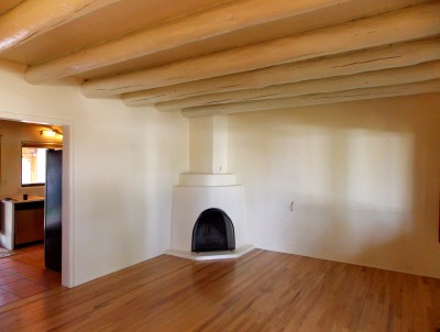 Newly refinished wood floors in the Casa Alegre home I recently sold.